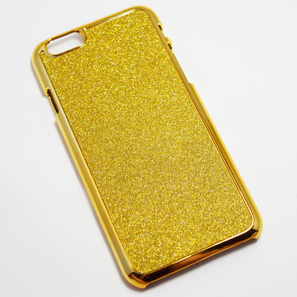 Glittery gold iphone 6 6S hard case