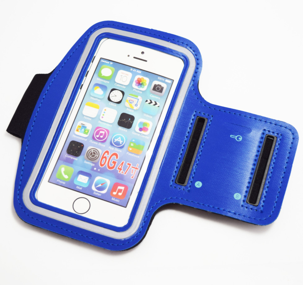 Blue iphone 8 armband case