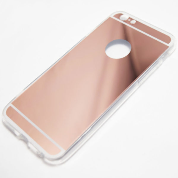 Rose gold iphone 6 6s reflective mirror case retailite for Phone mirror