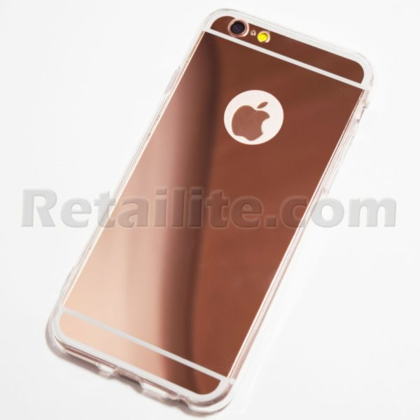 Rose gold iphone 6 6s reflective mirror case for Phone mirror