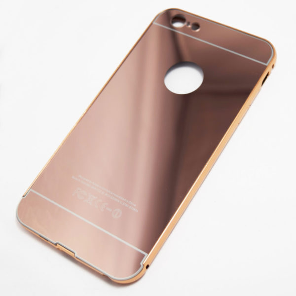 rose gold iphone 6 plus 6s plus reflective mirror case. Black Bedroom Furniture Sets. Home Design Ideas