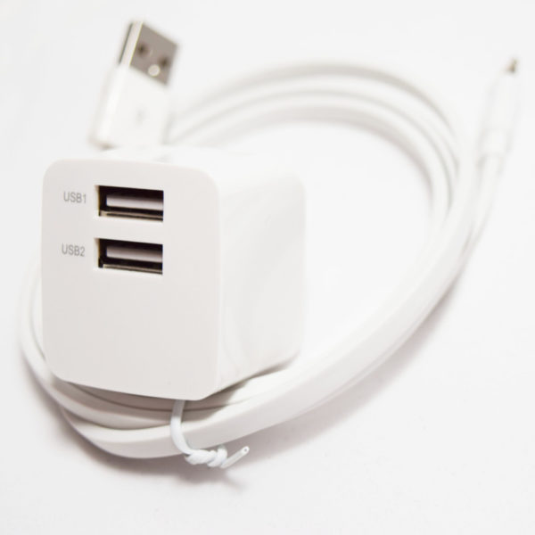 iphone ipad wall lightning charger side