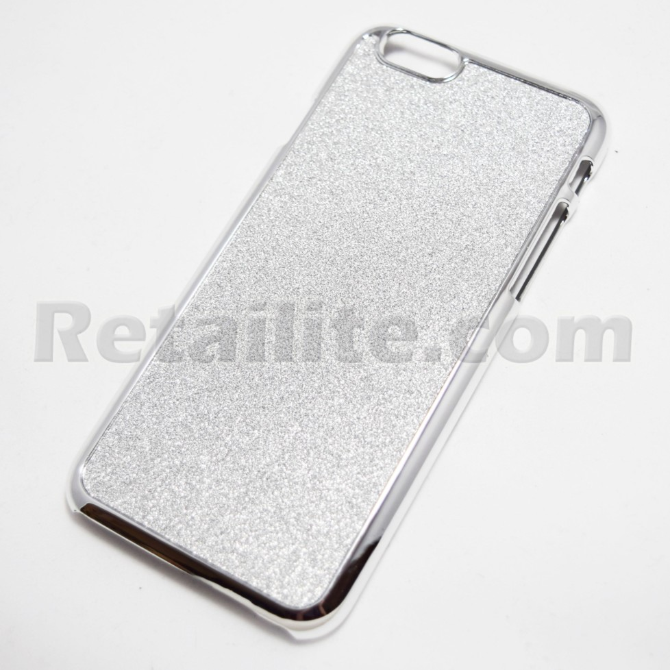 Glittery Silver iPhone 6 6S hard case
