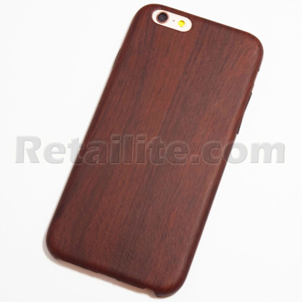 huge selection of f8fdb 023ed Red Brown iPhone 6 / 6S Wood Case