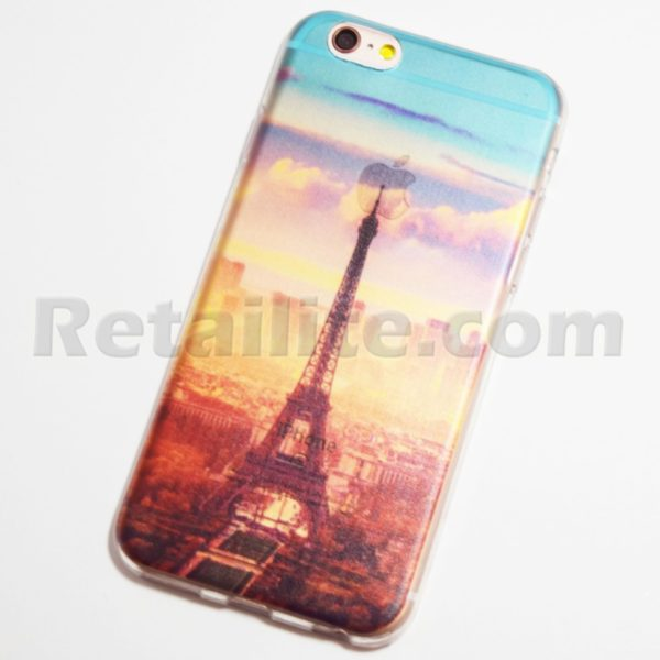 paris eiffel tower in the morning iphone 6 6s soft case retailite. Black Bedroom Furniture Sets. Home Design Ideas