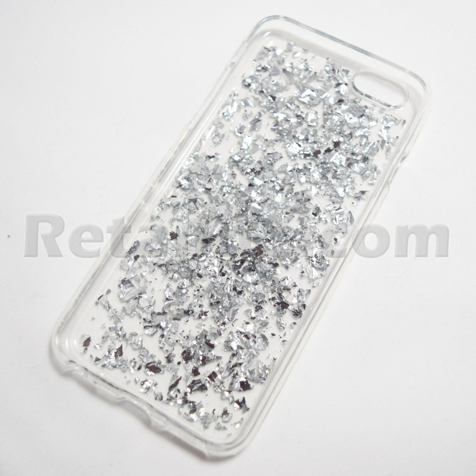 Metallic Silver Flake Iphone 6 6s Soft Case