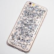 silver metal flakes iphone 6 soft case