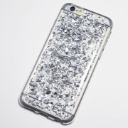 silver metal flakes iphone 6s case