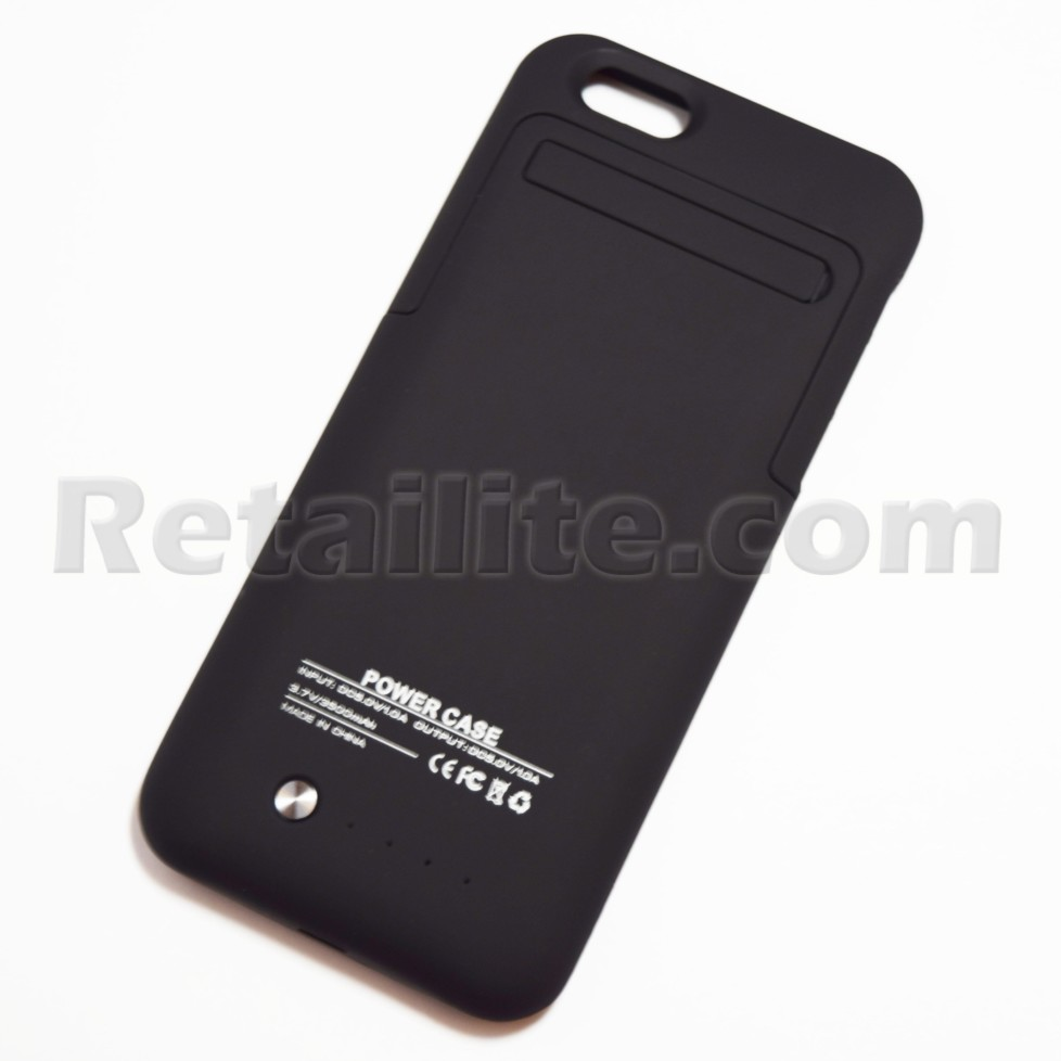 Black Battery Pack Power Case for iPhone 6 6S