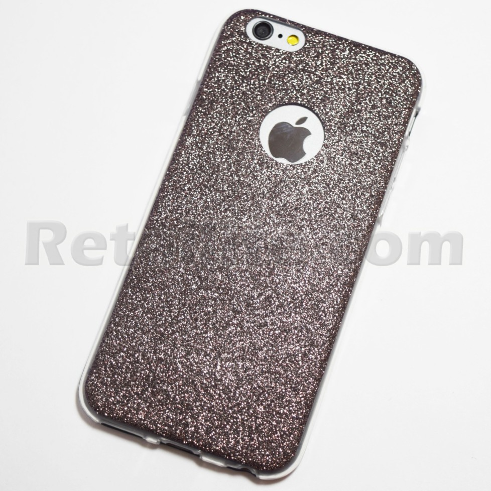 Dark grey glitter iphone 6 case
