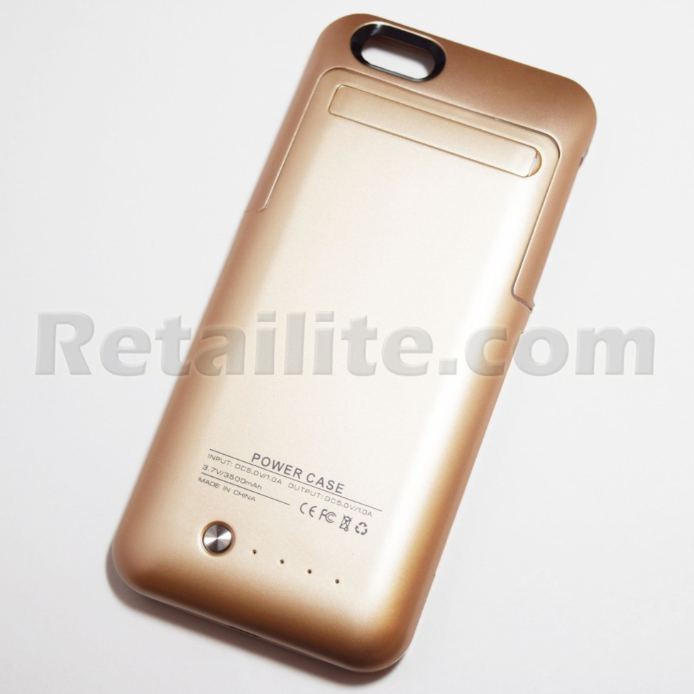 Gold Battery Pack Power Case for iPhone 6 6S