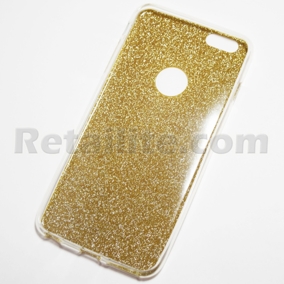 Gold Glitter iPhone 6 Plus   iPhone 6S Plus Soft Case - Retailite 483478768b0c