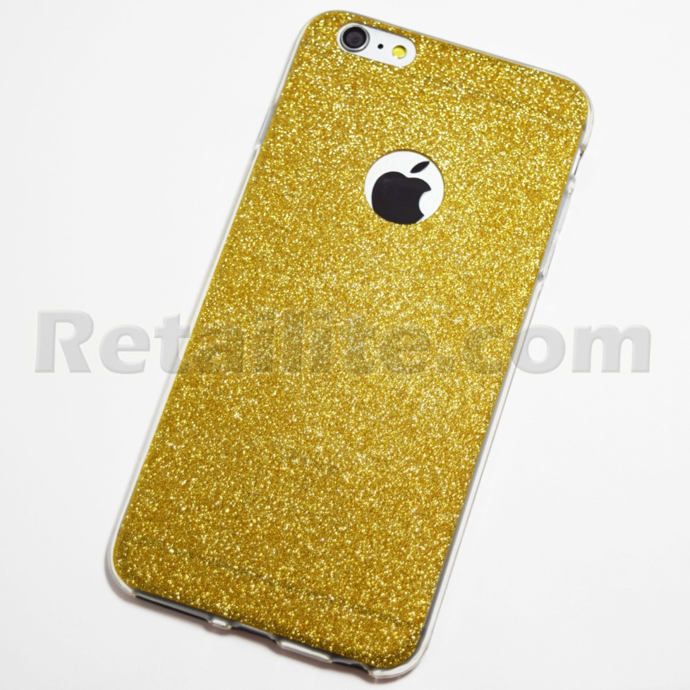 gold glitter iphone 6 plus iphone 6s plus soft case retailite. Black Bedroom Furniture Sets. Home Design Ideas