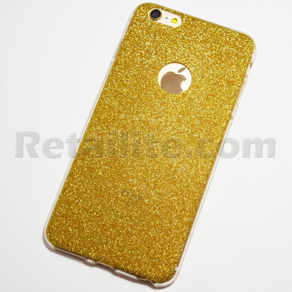 Gold sparkly iPhone 6s Plus soft case
