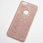 Rose Gold Glitter iPhone 6 Plus 6S Plus Soft Case