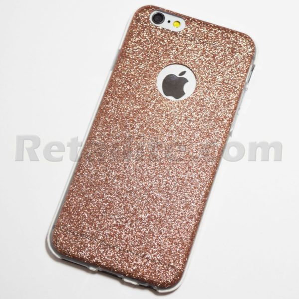 Gold Glitter Iphone  Plus Case