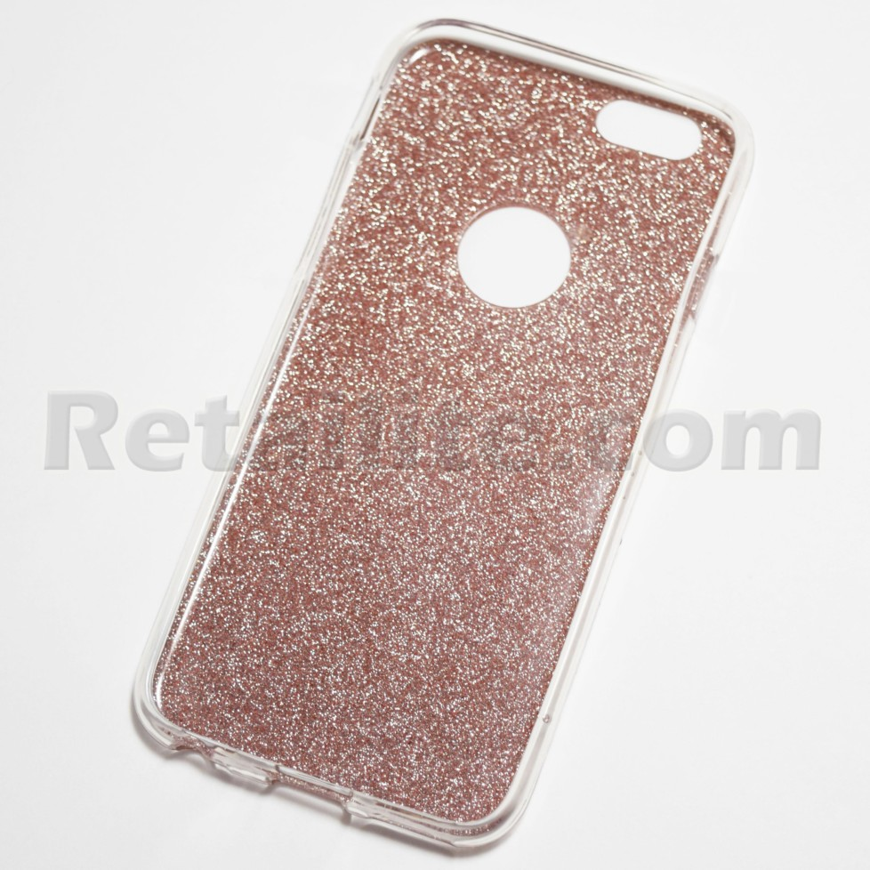 Rose Gold Glitter iPhone 6   iPhone 6S Soft Case - Retailite 177c051581bf
