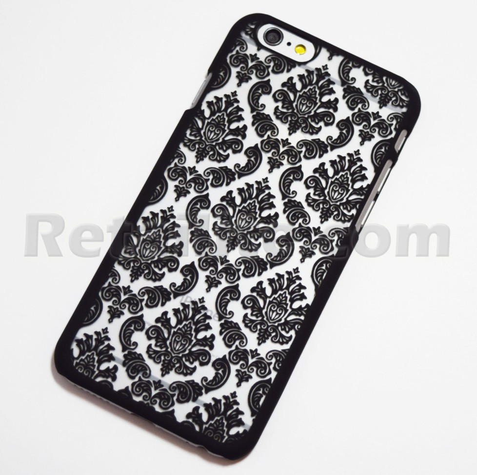 black vintage pattern iphone 6 6s case space grey retailite. Black Bedroom Furniture Sets. Home Design Ideas