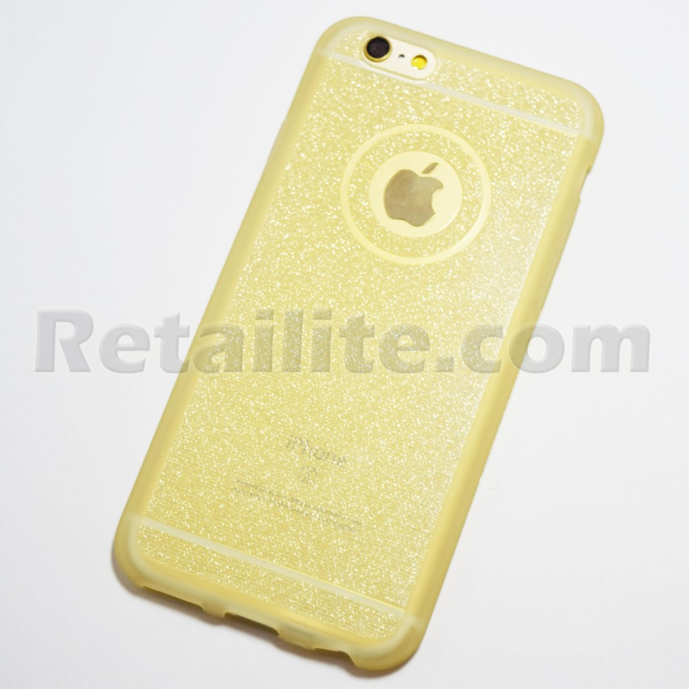 gold glittery iphone case