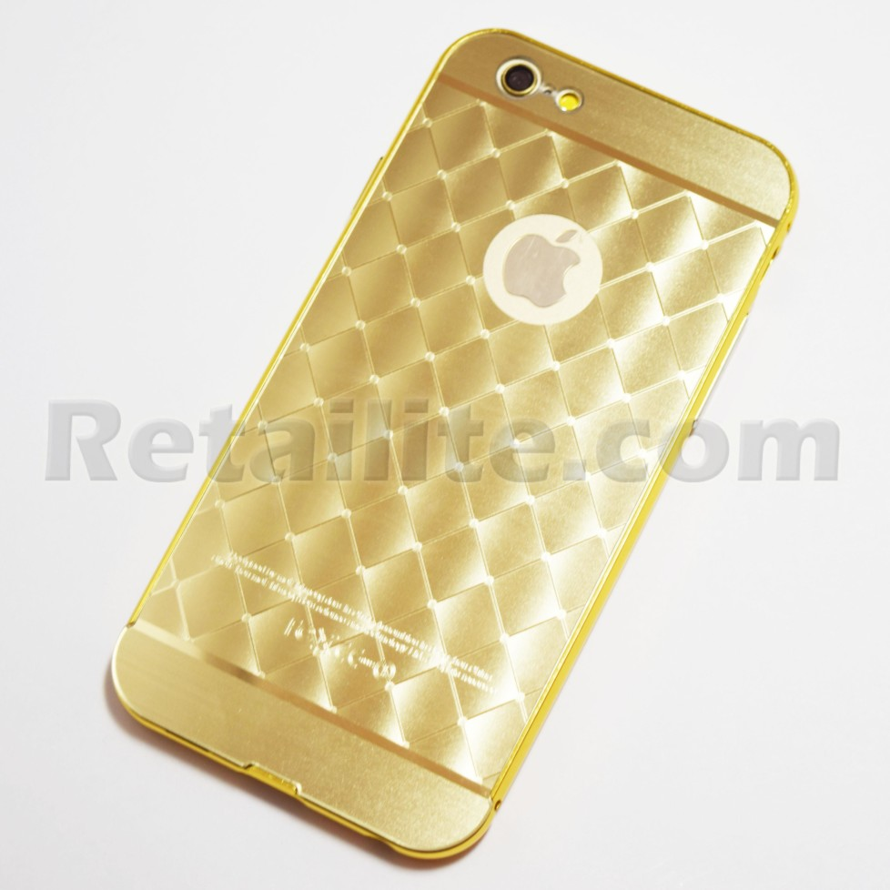gold metallic diamond pattern iphone 6 6S Case