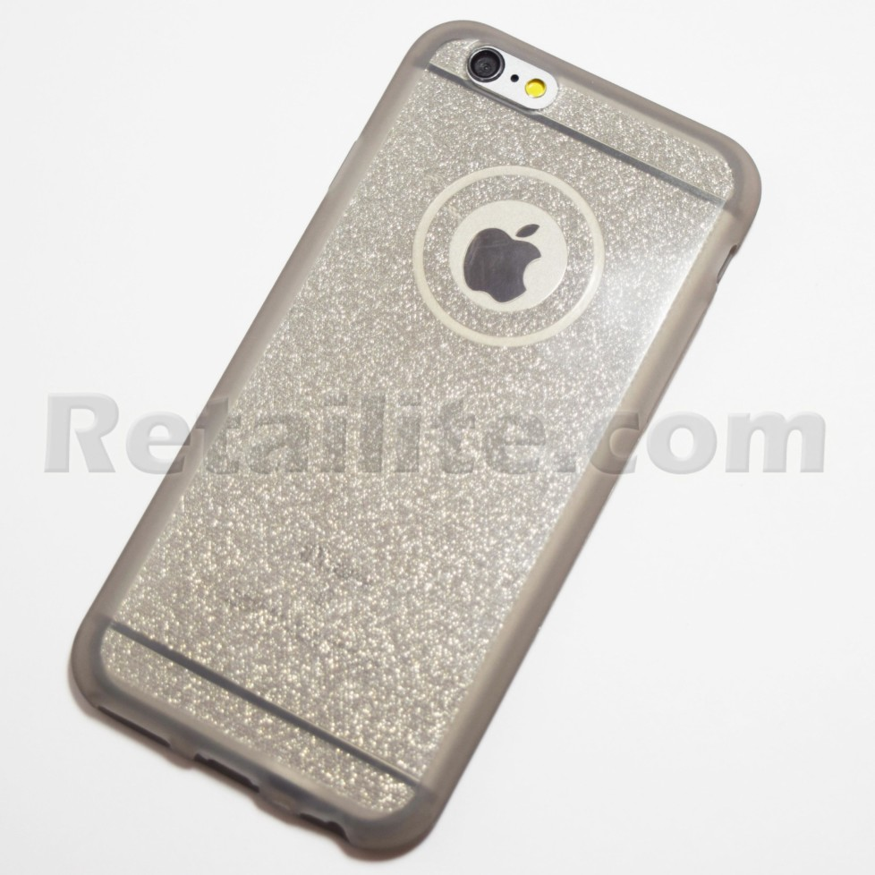 grey glitter iphone 6s case