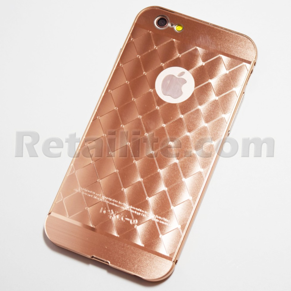 rose gold metallic diamond pattern iphone 6 6S case