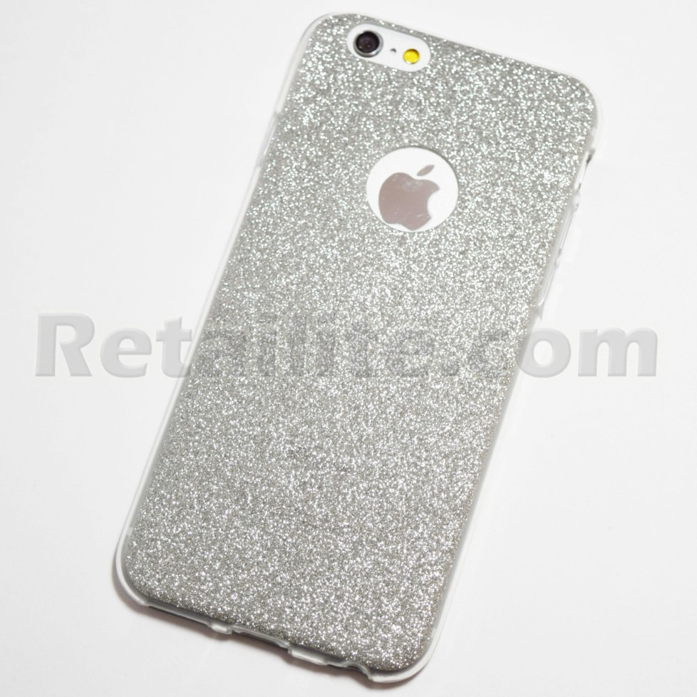 silver glitter iphone 6s case