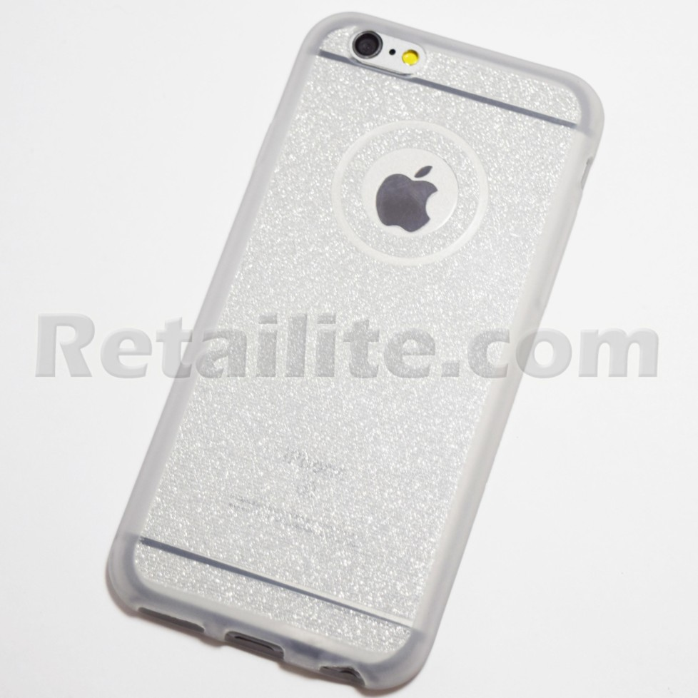 silver glittery iphone 6 iphone 6s soft case retailite. Black Bedroom Furniture Sets. Home Design Ideas