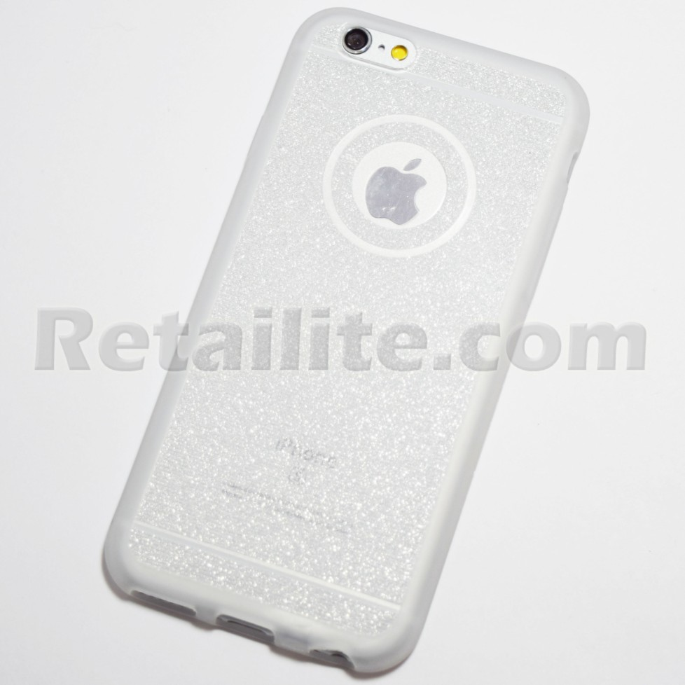 silver glittery iphone case
