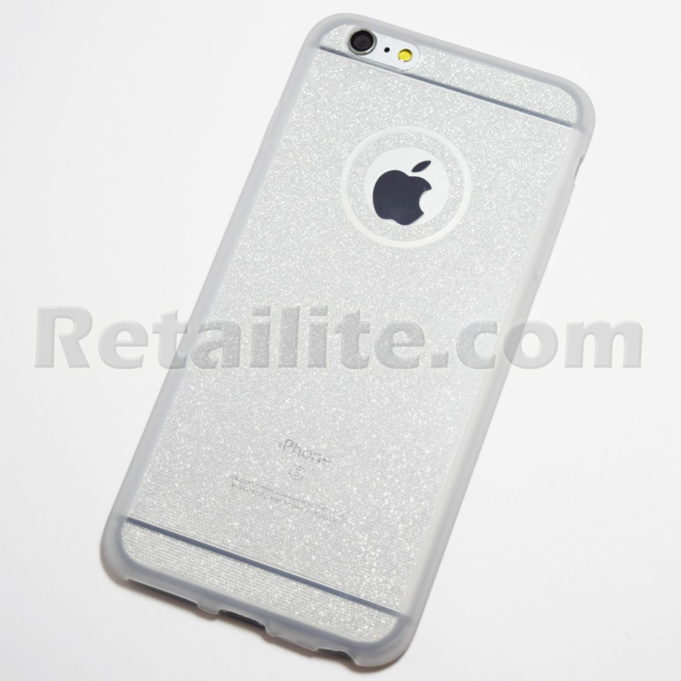 Silver Glittery iPhone 6 Plus   iPhone 6S Plus Soft Case - Retailite 31b72fb325d0