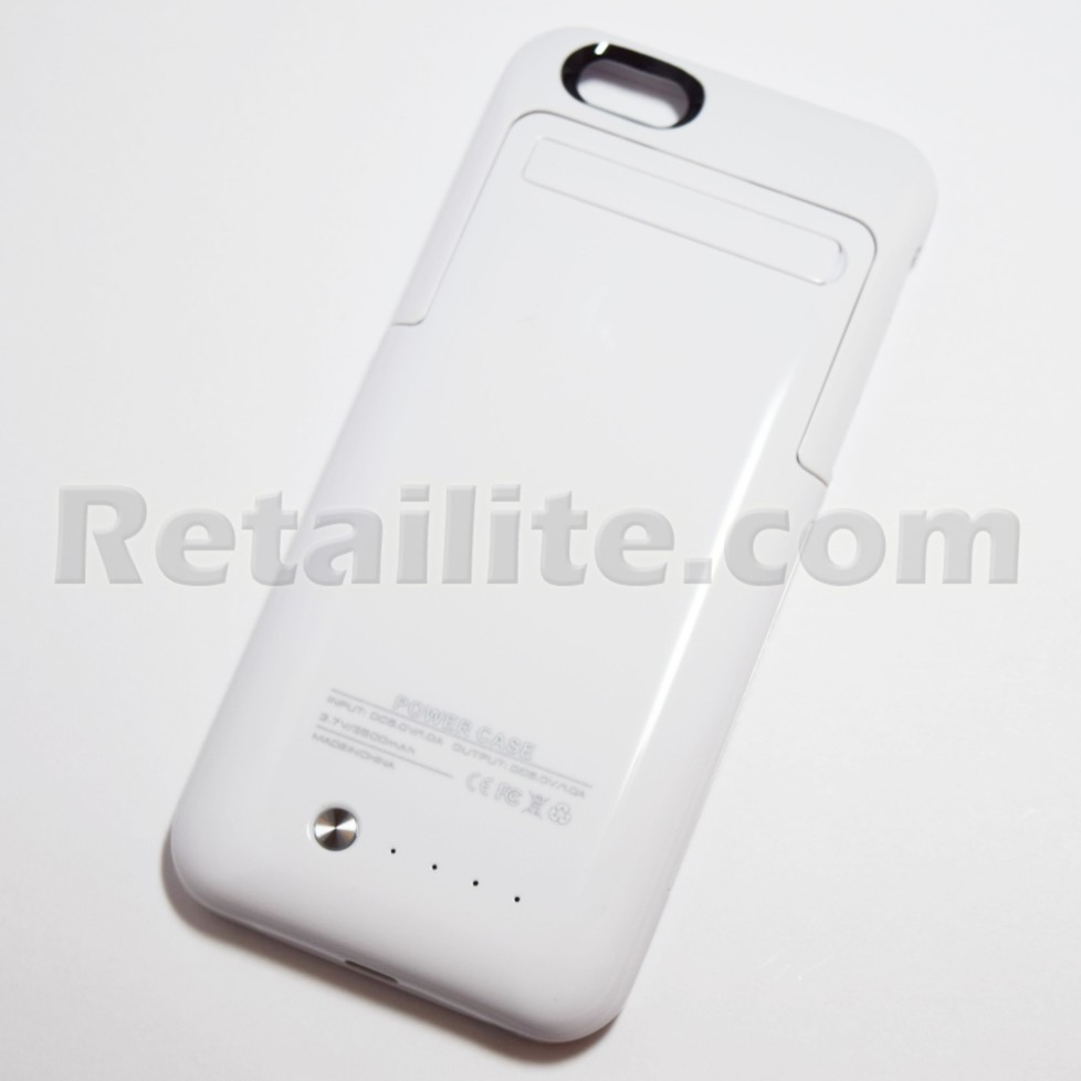 white battery pack power case for iphone 6 6S