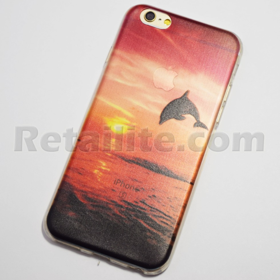 Dolphin Jumping at Sunset iPhone 6 6S Case