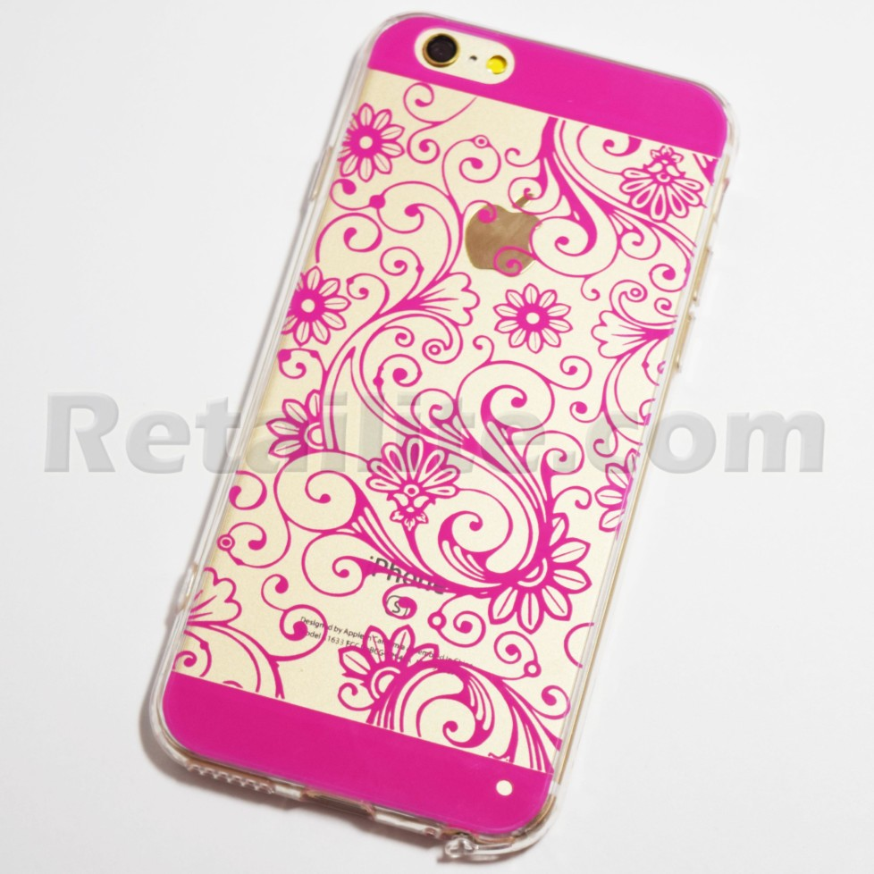 rose floral pattern iphone 6 iphone 6s soft case retailite. Black Bedroom Furniture Sets. Home Design Ideas