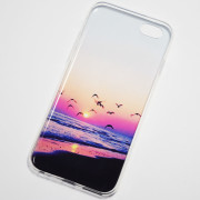 Seagulls fly on the beach at sunset iPhone 6S Case