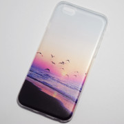 Seagulls fly on the beach iPhone 6S Case