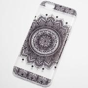 black circular henna flower iphone 6s case