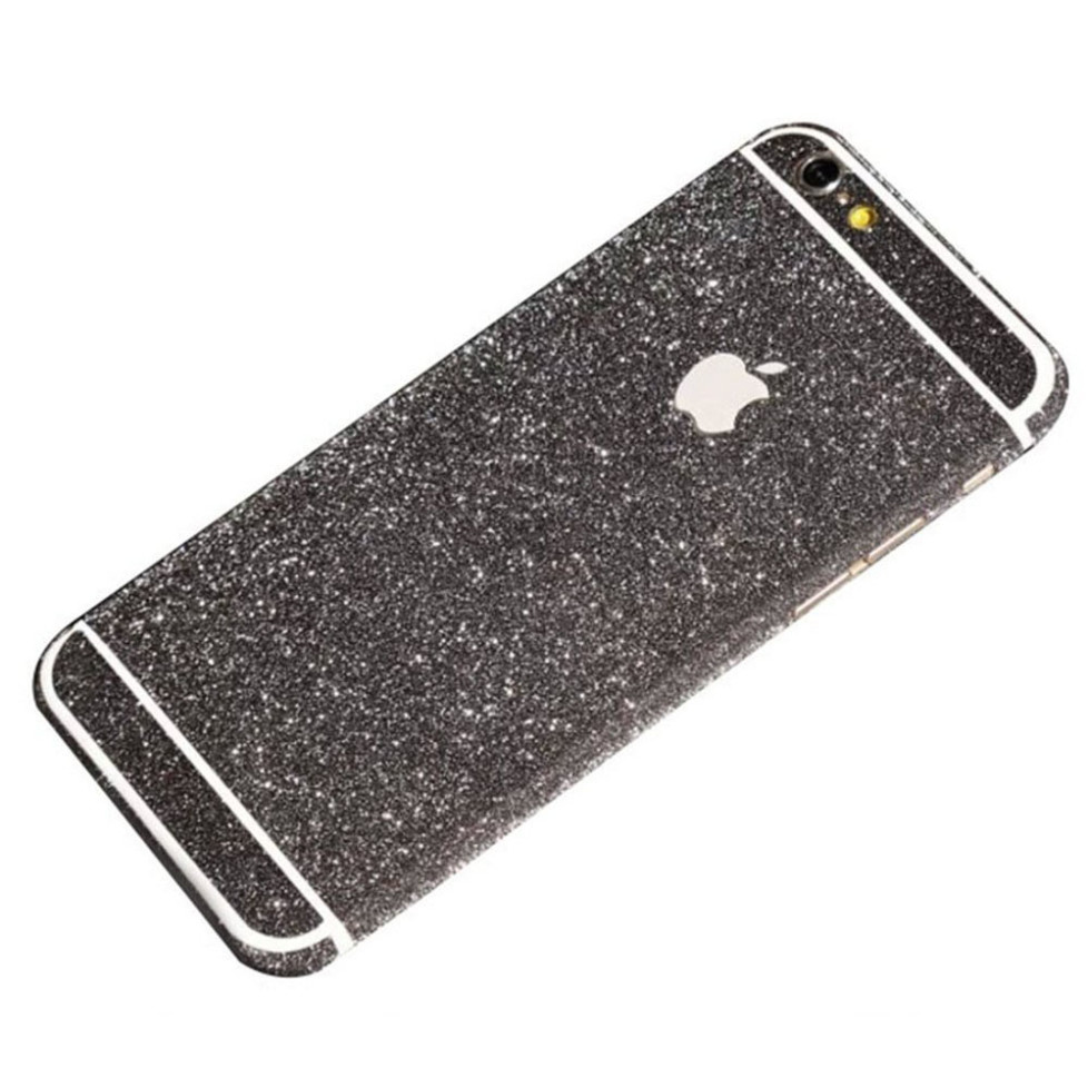 black glittery iphone 6 plus sticker