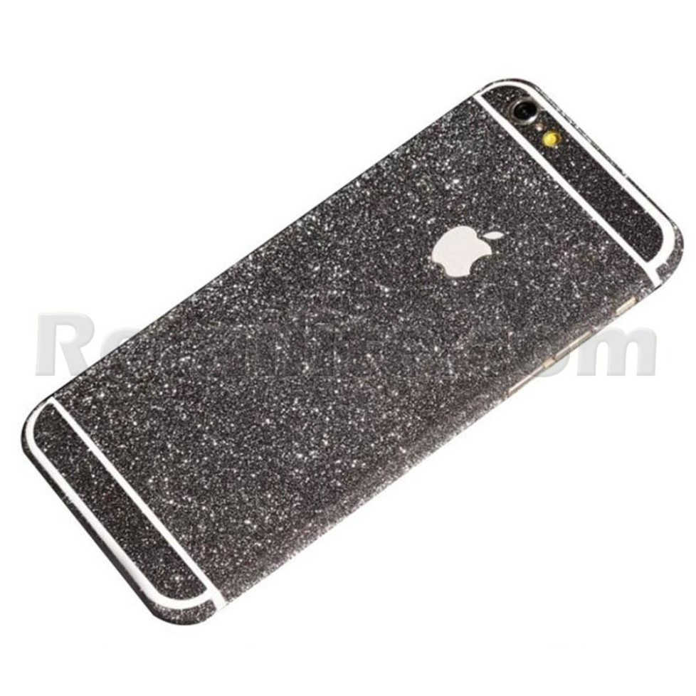 black glittery iphone 6 sticker