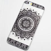 black henna circle flower iphone 6s case