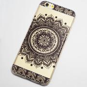 black large circular flower henna iphone 6 6s case