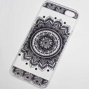 black large circular henna flower iphone 6s case