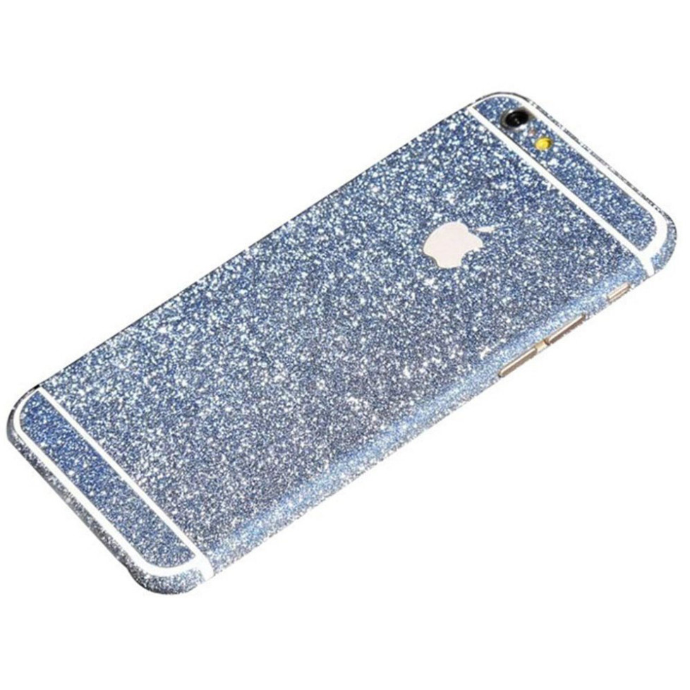 blue glittery iphone 6s plus sticker
