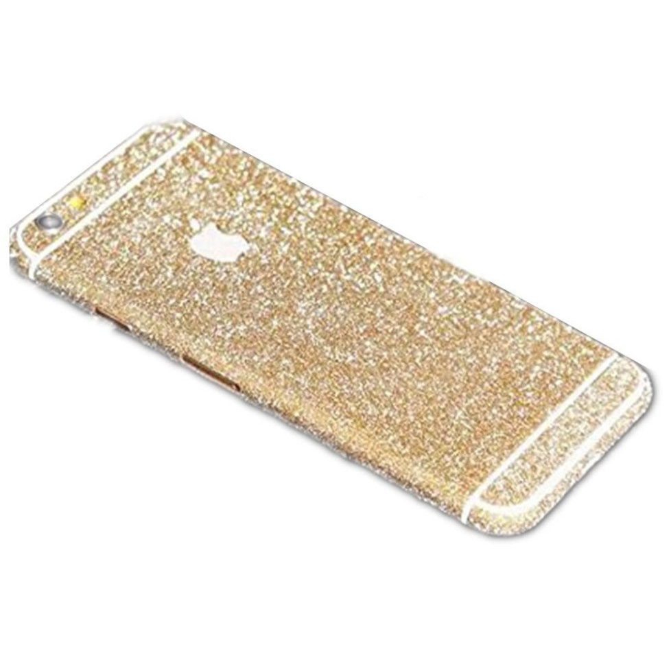 champagne glittery iphone 6 plus sticker