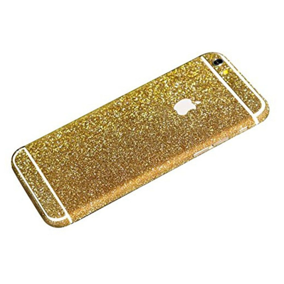 gold glittery iphone 6 plus sticker