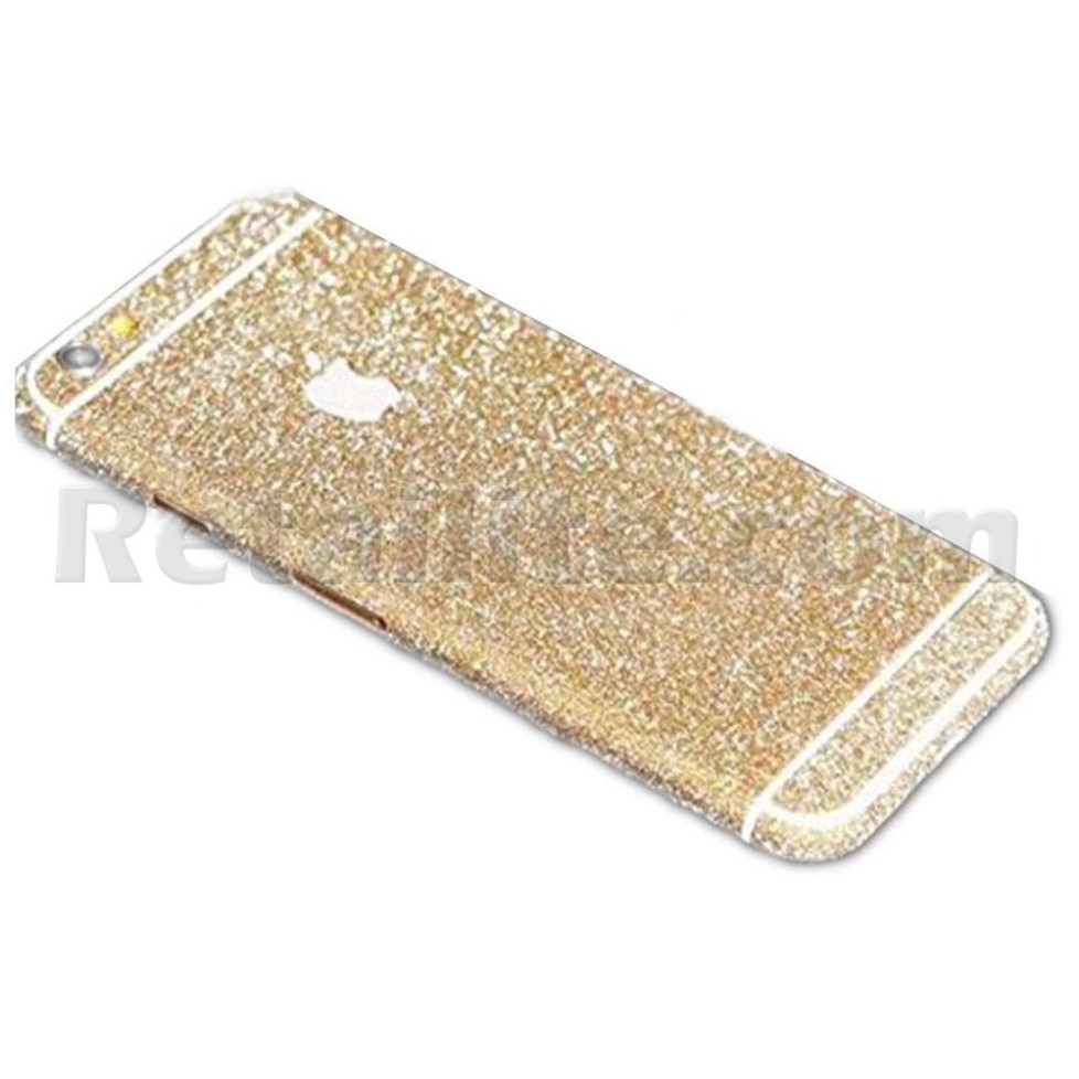 gold glittery iphone 6 sticker