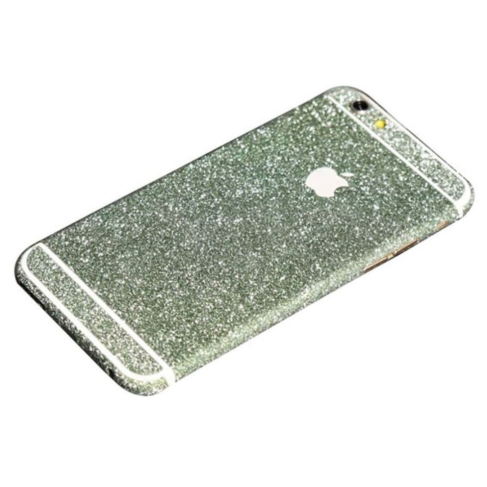 green glittery iphone 6s plus sticker