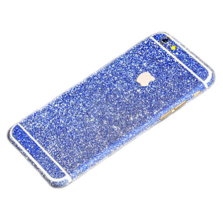 navy blue glittery iphone 6 plus 6s plus full body sticker wrap
