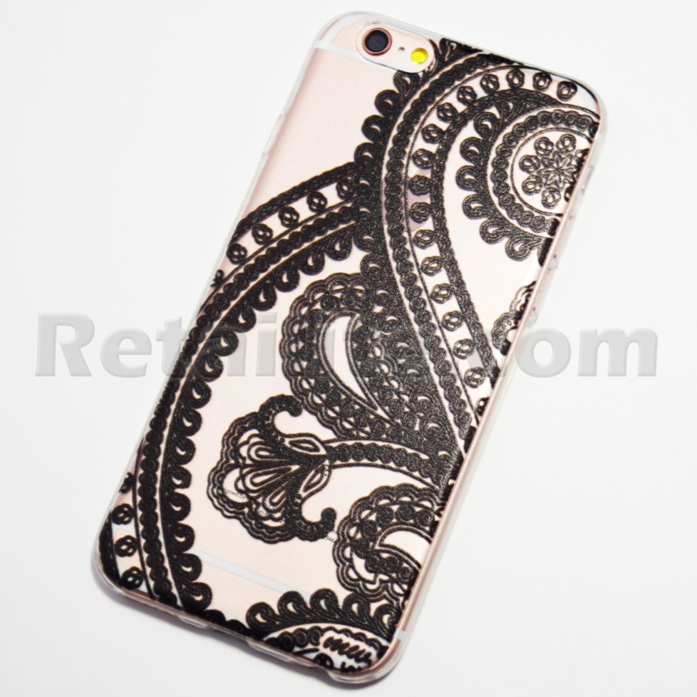 paisley black henna iphone 6s clear case