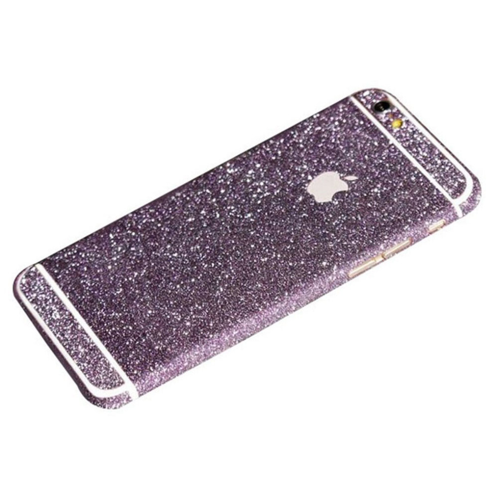 purple glittery iphone 6s plus sticker