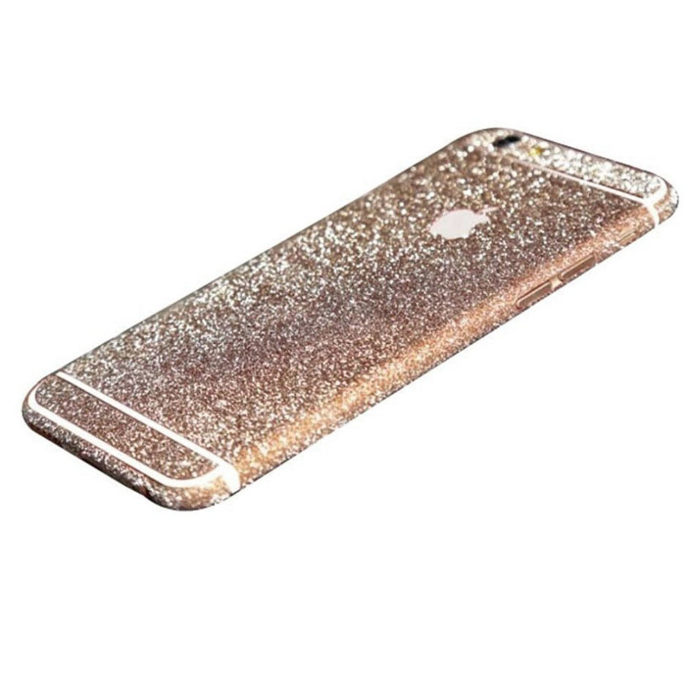 rose gold glittery iphone 6s plus sticker